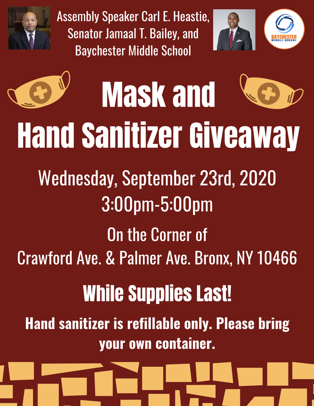 Mask and Santitizer Giveaway - 9/32/2020